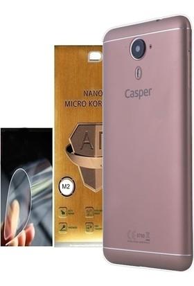 KılıfShop Casper Via M2 Silikon Kılıf + Nano Ekran Koruyucu