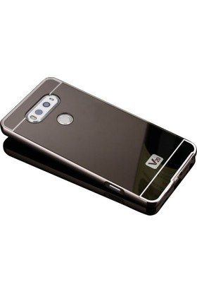 KılıfShop LG V20 Aynalı Metal Kılıf + Ekran Koruyucu