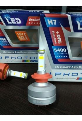 Photon Supreme H7 Hıghpower 5400 Lumens Head Lıght Led+Drlturuncu Sp2807 Hp