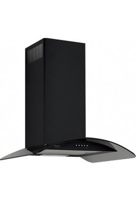 Esty 3159 60 cm Siyah Oval Camlı Davlumbaz
