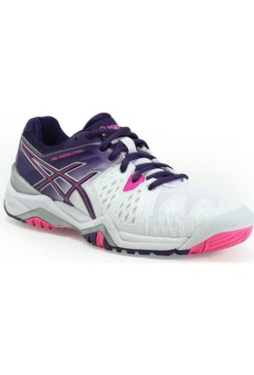 Asics Gel Resolution 6 white/parachute purple bayan tenis ayakkabısı