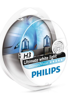 Diamond Vision Philips H3 Tip Ampül Seti 104810