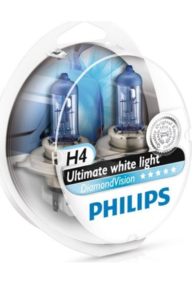 Philips H4 5000 Kelvin Diamond Vision 12V 60/55W