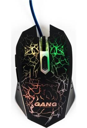 Gang GM-02 6 Tuşlu RGB Led Işıklı Kablolu Oyuncu Mouse