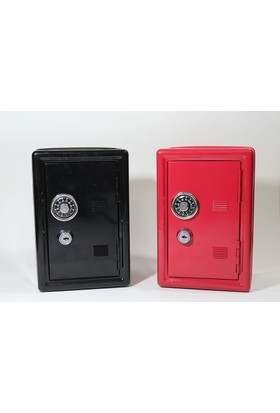 Klc Metal Kilitli Kasa Kumbara Kırmızı