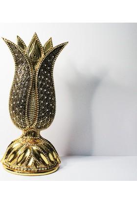 Klc Esma-İ Hüsna Lale Biblo Altın Renk