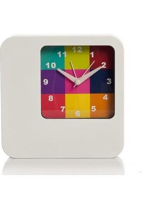 Xoom Eg60840148Sq Alarmlı Masa Saati Renkli