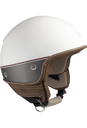 CGM Nairobi Beyaz Açık Motosiklet Kaskı Vizörsüz 104G-FAA-14B Small