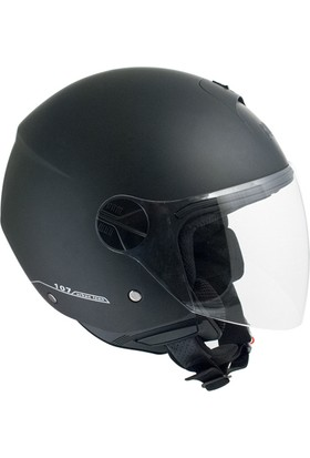 CGM Florence Siyah Açık Motosiklet Kaskı Uzun Vizör 107A-FLA-01E XLarge