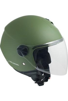 CGM Florence Yeşil Açık Motosiklet Kaskı Uzun Vizör 107A-FLA-07E XLarge