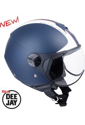 CGM Deejay Mavi Açık Motosiklet Kaskı Kısa Vizör 107DJ11-FSA-06E XLarge