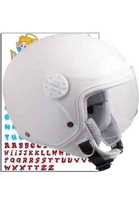 CGM Çocuk Motosiklet Kaskı Goodevil Beyaz 205S-FSA-14E Young Xlarge