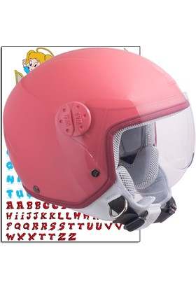 CGM Çocuk Motosiklet Kaskı Goodevil Pembe 205S-FSA-74D Young Large