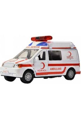Cantoys Ambulans Sesli ve Işıklı Metal Araba