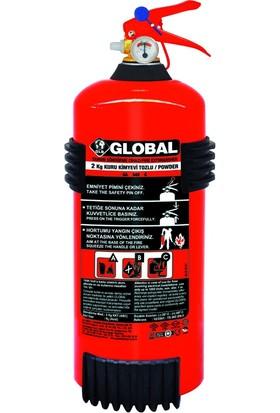 Global 2 Kg ABC Kuru Kimyevi Tozlu Yangın Söndürme Cihazı