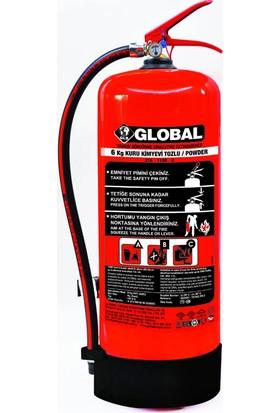 Global 6 Kg ABC Kuru Kimyevi Tozlu Yangın Söndürme Cihazı