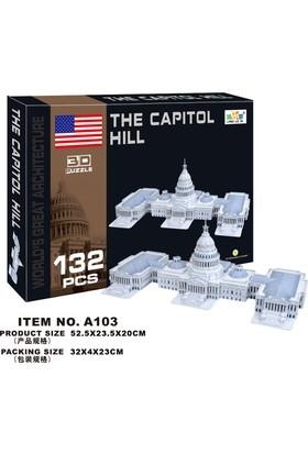 Cc Oyuncak 3D Puzzle The Capitol Hill - 132 Parça