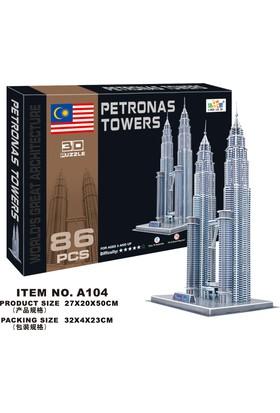 Cc Oyuncak 3D Puzzle Petronas Towers - 86 Parça