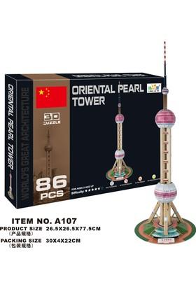 Cc Oyuncak 3D Puzzle Oriental Pearl Tower - 86 Parça