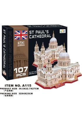 Cc Oyuncak 3D Puzzle St Paul's Cathedral - 107 Parça