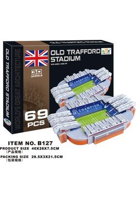 Cc Oyuncak 3D Puzzle Old Trafford Stadium - 69 Parça