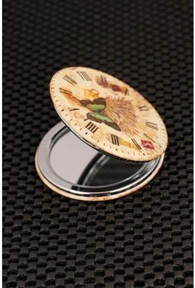 Anka Roma Rakam Saat Tasarımlı Cep Aynası