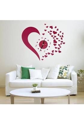 Anka Kalp Tasarımlı Duvara Yapışan Saat