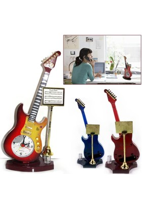 Anka Gitar Tasarımlı Dekoratif Masa Saati