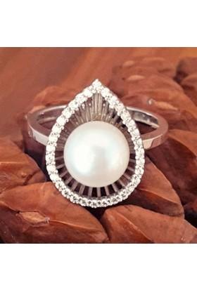 Bella Gloria Damla İnci Gümüş Yüzük (Gy00361) 20