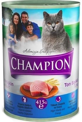 Champion 24 Adet Ton Balıklı Kedi Konservesi 24 X 425 gr