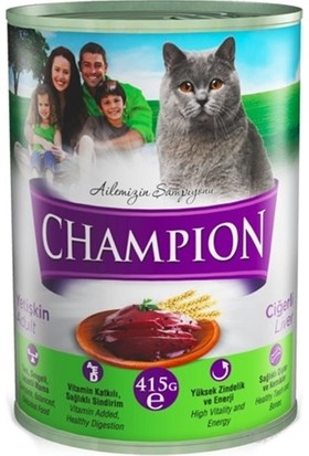 Champion 24 Adet Ciğerli Kedi Konservesi 24 X 425 gr