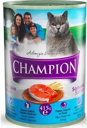 Champion 24 Adet Somonlu Kedi Konservesi 24 X 425 gr