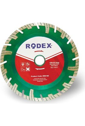 Rodex Turbo Elmas Kesme Diski Uzun Segmen Tipi