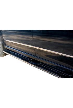 Spider Isuzu D-Max 1 Yan Kapı Çıtası 4 Parça Paslanmaz Çelik Geniş 2003-2011 Modeller