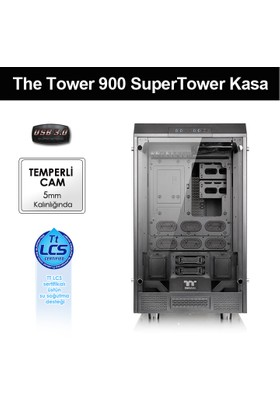 Thermaltake The Tower 900 E-ATX Full Tower Super Gaming Computer Case Siyah (CA-1H1-00F1WN-00)