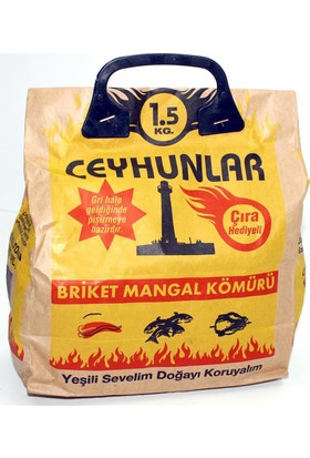 Ceyhunlar 6'lı Paket Ceyhunlar Mangal Barbekü Kömürü 1,5 Kg 010137