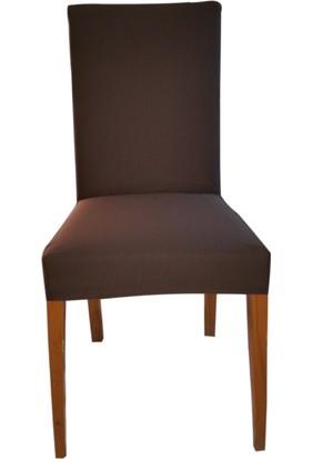 Akçağ Düz Sandalye Kılıfı Kahverengi