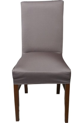 Akçağ Düz Sandalye Kılıfı Koyu Gri