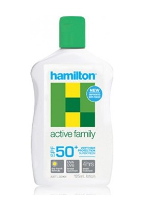 Hamilton Active Family Losyon SPF50+ 125 ml.