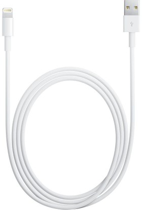 Apple Lightning (2m) USB Kablo (iPhone 5/5s/SE/6/6s/7 / Plus / 8 / X / iPod / iPad) - MD819ZM/A-(Kutusuz) - (İthalatçı Garantili)