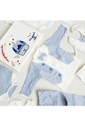 Nenny Bebe Erkek Bebek Hastane Çıkışı Yeni Doğan Seti Antialerjik 10'lu N70