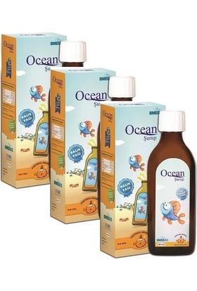 Ocean Omega- 3 Portakal Aromalı 150Ml - 3 Adet