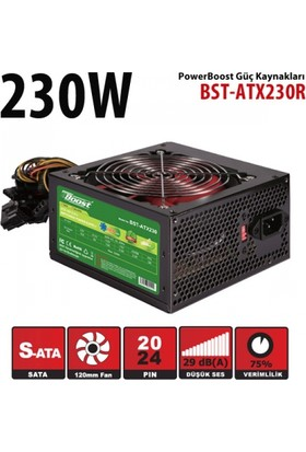 Powerboost ATX Serisi 230W 2xSATA, 2xHDD, 12cm fanlı Bilgisayar Güç Kaynağı (Power Supply)