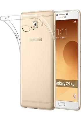 Case 4U Samsung Galaxy C9 Pro Kılıf Ultra İnce Silikon Şeffaf