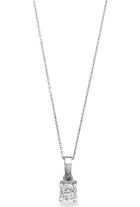 OJA Diamond 0,30 Karat Efektli Crinkle Pırlanta Kolye