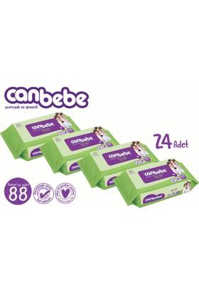 Canbebe Tüm Aile Islak Havlu 24'lü Fırsat Paketi / 2112 Yaprak