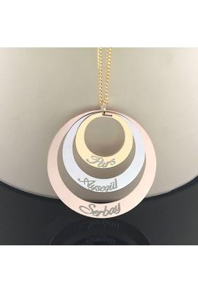 Cadde Takı İsimli Çember Gümüş Kolye