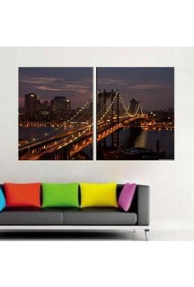 Eslim İ100 Manhattan Köprüsü Parçalı Tablo 100X150 Cm