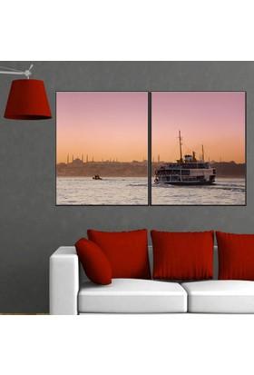 Eslim İ251 İstanbul-Vapur Seferi Kanvas Tablo 100X150 Cm