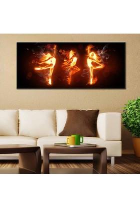 Eslim Pnr70 Alev Girl Kanvas Tablo 50X120 Cm
